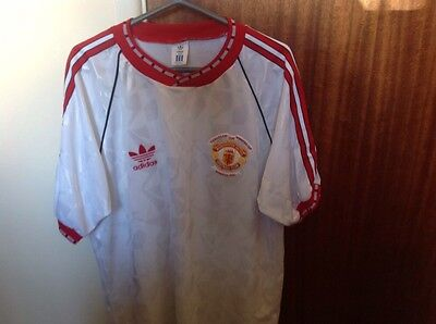 Adidas Manchester United Football Commemorative  Shirt 1991 CUP WINNERS CUP- XL