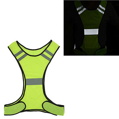 Reflective Running Vest By Fluorescent Yellow Safety Gear for Outdoor Sports