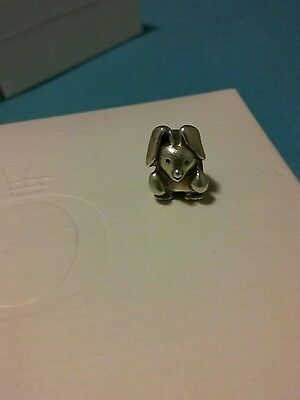 Retired Genuine Pandora silver little rabbit charm