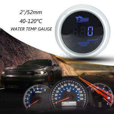 2'' 52Mm Led Digitale Strumento Manometro Temperatura Acqua 40-120℃ Auto Race12V
