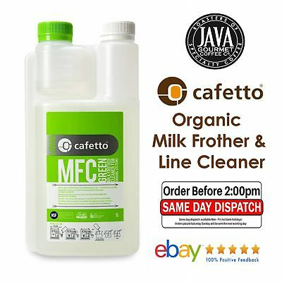 Cafetto Milk Frother Organic Cleaner 1L Automatic Coffee Machines and Milk Lines