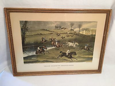 "Full Set, 4 Plates ""Vale Of Aylesbury Steeple Chase"" Framed Print by F.C.Turner"