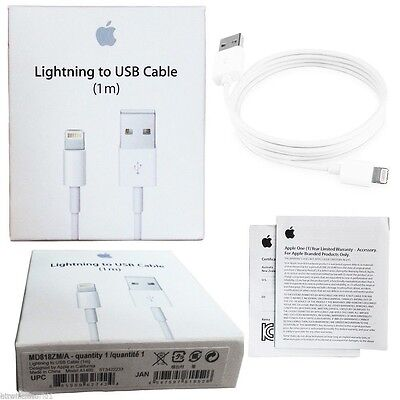 Cable Neuf Apple Lightning Usb iPhone 5 5c 5s 6 6s 6s+ 7 / iPad / iPod chargeur