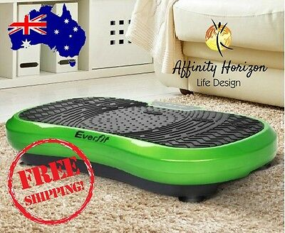 Everfit Powerful 1000W Vibrating Plate Exercise Platform Cardio Wt Loss - Green