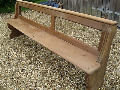 STRIPPED PINE OLD CHURCH PEW. Delivery poss. MORE AVAILABLE, ALSO CHAPEL CHAIRS.