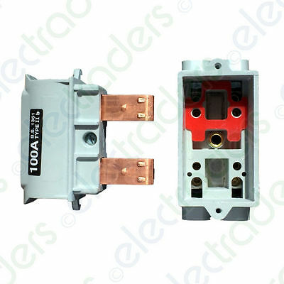Lucy 051702 House Service Cut Out Fuse Carrier & Base Type IIB - 63 / 80 / 100 A