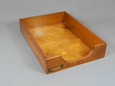 Vintage Wooden Desk Top Filing Letter Tray Dovetails Office 1930's 1950's Oak