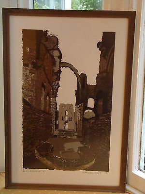 Norman Wade Limited Edition Print Lindisfarne Signed And Dated 1978