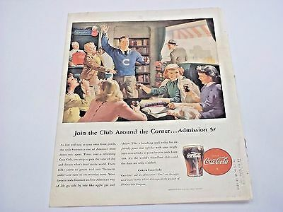 1946 Vintage Coca-Cola Print Advertisement Coke / Schenley Reserve Ad Original