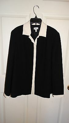 Womans Mimi maternity Black & White career lined blazer suit top SIZE Small