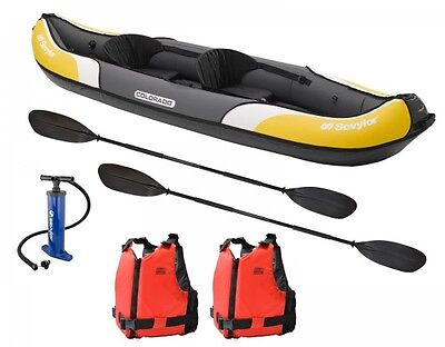 Sevylor Colorado Kayak - with 2 paddles, 2 PFD's, storage bag and a hand pump!