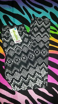 Justice NWT Girls 8 Leggings New Black and White Athletic