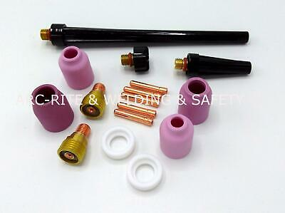 (TK19/20/21) WP9 WP20, Gas Lens Tig Welding Kit - Backcaps, Ceramics, Collets