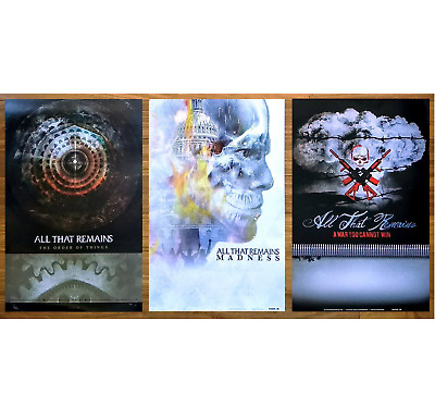 ALL THAT REMAINS Madness | Order Of Things | War You Cannot Win RARE Posters Lot
