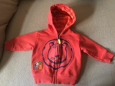 Boys M&s Zip Up Hoodie 3-6 Months