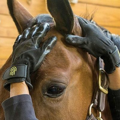 LeMieux HANDS ON GROOMING MITT Horse Pony Dog Bath Scrubbing Hair Removal S/M/L