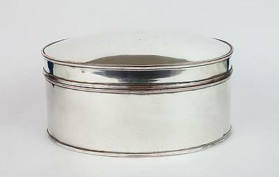 GEORGE III OLD SHEFFIELD PLATE Oval BISCUIT BOX c1790