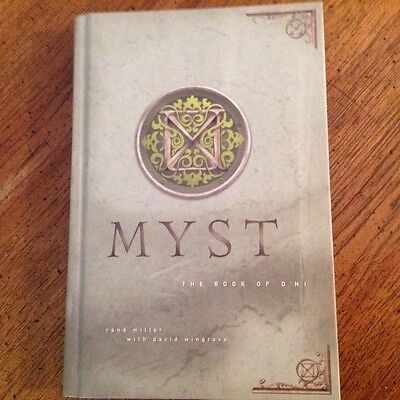 """1st edition """"Myst The Book Of D'Ni"""" by Rand Miller HC Hyperion"""