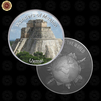 WR Wonders of Mexico Uxmal New Design Mexican Silver Coin for Collectors Capsule