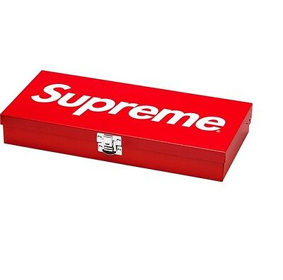 Supreme 17S/S Large Storage Tool Box Lock Red 1000% Authentic in Hand