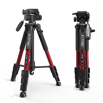 Zomei Professional Aluminium Tripod&Pan Head for Canon Nikon Camera Hiking Red