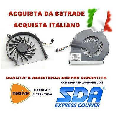 Ventola Cpu Fan Per Notebook Hp G58 650 655 Compaq Presario Cq58 4 Pin