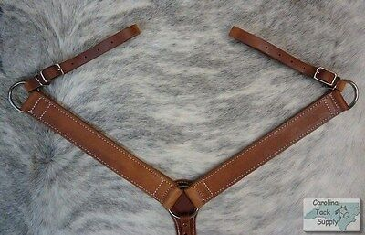 MEDIUM OIL Western Leather Breast Collar MADE IN THE USA!! NEW HORSE TACK!!