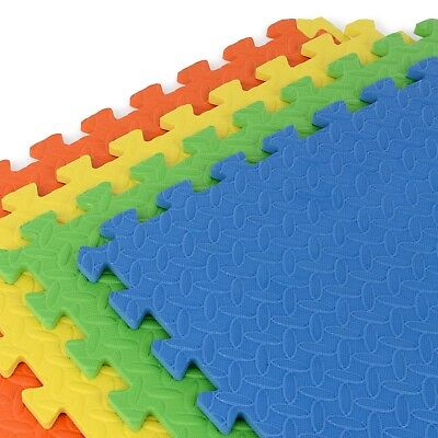 Soft Eva Foam Interlocking Crash Mats Floor Kids Play Puzzle Gym Exercise Office