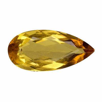 5.055Cts Attractive Luster Golden Yellow Natural Beryl  ( Heliodor ) Pear