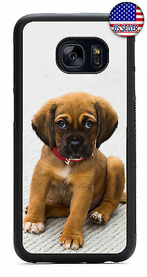Cute Puppy Dog Red Collar Slim Rubber Case For Samsung Galaxy S10e S10+ S9 S8