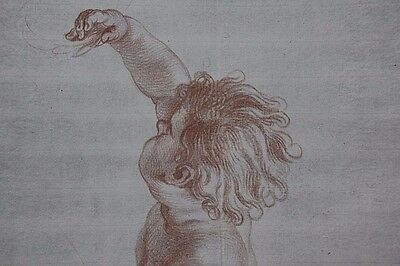 FLEMISH School OLD MASTER DRAWING of a 'Putti' circa 1800