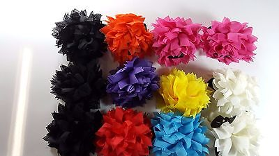 Wholesale lot 20 pcs Flower Jaw Hair Clip Claw Double Sided mixed color .