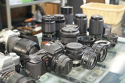 Photography Equipment Lot / Cameras / Lenses