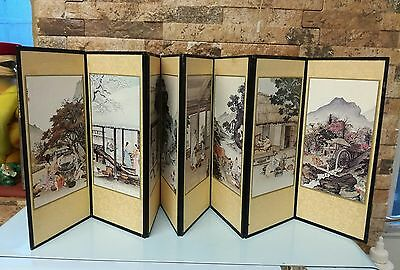 Vintage Oriental table screen