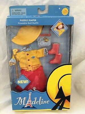 Rare 2003 Madeline Poseable Doll PUDDLE JUMPER Outfit New In Box