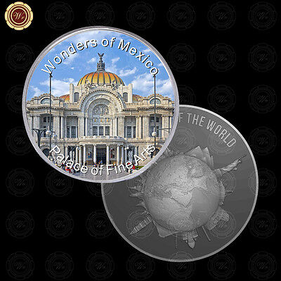 WR Wonders of Mexico Palace of Fine Arts Mexican Silver Coin /w Acrylic Capsule
