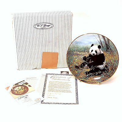 WS George Bradford Nature's Lovables Chinese Treasure Panda Bear Collector Plate