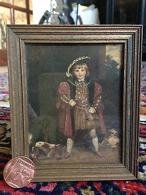 Antique edwardian miniature The Medici Society ltd print Henry VIII