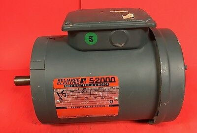 Used Reliance S-2000 Duty Master 1.5 HP, 1725 RPM, 230/460V, 3 Phase Motor