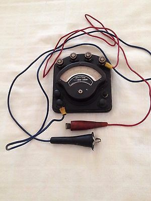 Antique Early 1900's Weston Electric Model 280 Volt-Ammeter With Cables