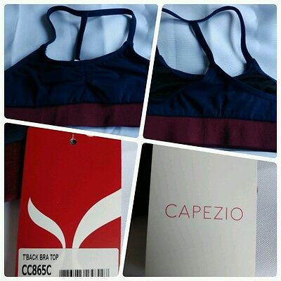 Capezio Girls T'back Bra Top Navy Size Small CC865C