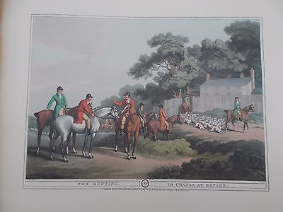 Vintage Colour Print Hunting 3 Orme London Howitt Horse