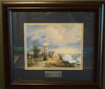 """Thomas Kinkade """"A Light in the Storm"""" Library Edition"""