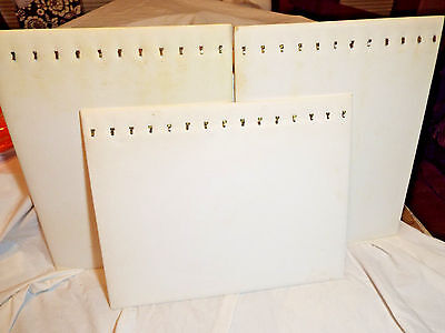 Lot of 3 Necklace Display Boards - Holds 12 Necklaces Each - Easel On Backs