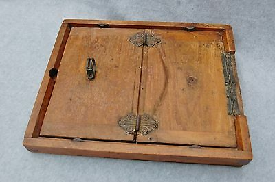 """Contact Print Frame Darkroom Antique Photography Wood Glass 16""""x 13"""" no Clips"""