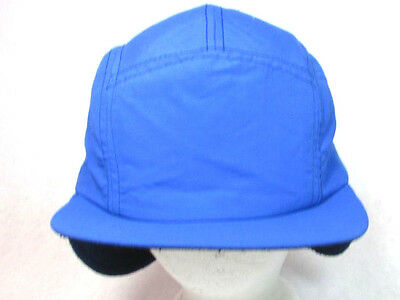 fffa8b4d32484 Lands  End Aviator Trapper Cap Winter Hat Blue Large Size With Ear Flaps