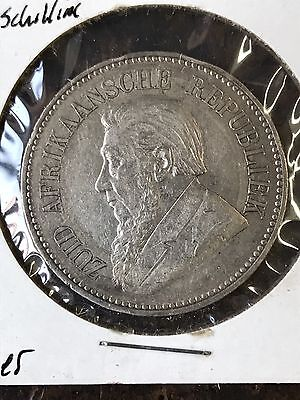 South Africa 1896 Silver 2 1/2 Shillings In XF