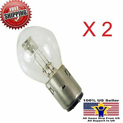 2 HEADLIGHT BULBS 35/35W 12V BA20d GY6 CHINA SCOOTER ATV MOTORCYCLE TAOTAO VENTO