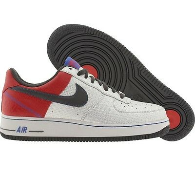 315090-001 Nike Air Force 1 Low Premium Original Six - Bobby Jones Silver Red