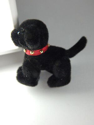 """World of Miniature Bears 1.5"""" Plush Puppy Blackie #671B Collectible Puppy"""